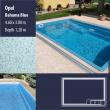 2801 Opal Compact Ceramic IG Pool Package Bahama Blue