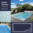 2809 Diamant Compact Ceramic IG Pool Package Bahama Blue