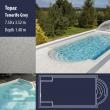 2810 Topaz Compact Ceramic IG Pool Package Tenerife Grey