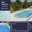 2811 Topaz Compact Ceramic IG Pool Package Bahama Blue