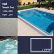 2800 Opal Compact Ceramic IG Pool Package Tenerife Grey - 4,60 x 3,00 m x 1,20 m dyb
