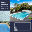 2803 Ametyst Compact Ceramic IG Pool Package Bahama Blue - 6,18 x 3,14 m x 1,40 m dyb