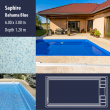 2805 Saphire Compact Ceramic IG Pool Package Bahama Blue - 6,00 x 3,00 m x 1,20 m dyb