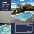 2806 Smaragd Compact Ceramic IG Pool Package Tenerife Grey - 6,00 x 3,20 m x 1,40 m dyb