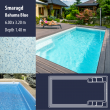 2807 Smaragd Compact Ceramic IG Pool Package Bahama Blue - 6,00 x 3,20 m x 1,40 m dyb