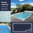2809 Diamant Compact Ceramic IG Pool Package Bahama Blue - 7,20 x 3,42 m x 1,40 m dyb