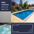 2812 Rubin Compact Ceramic IG Pool Package Tenerife Grey - 8,20 x 3,54 m x 1,50 m dyb